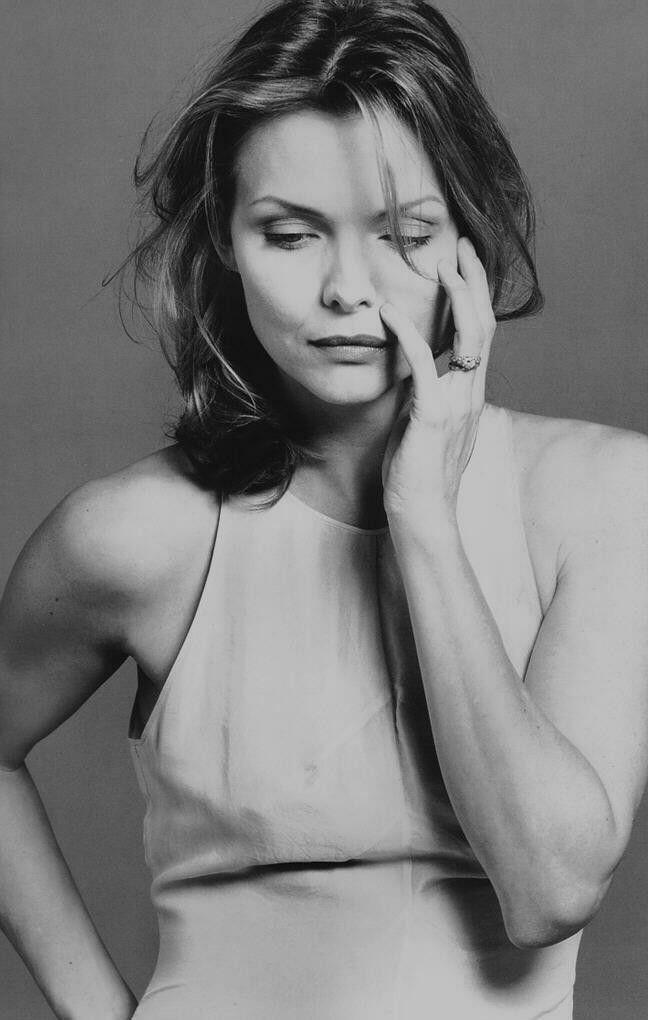 Michelle Pfeiffer. Cheekbones.
