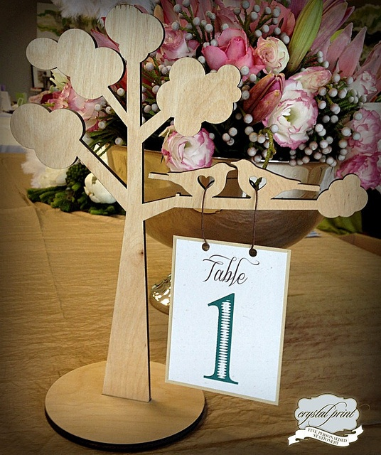 tree table number by crystalprint, via Flickr
