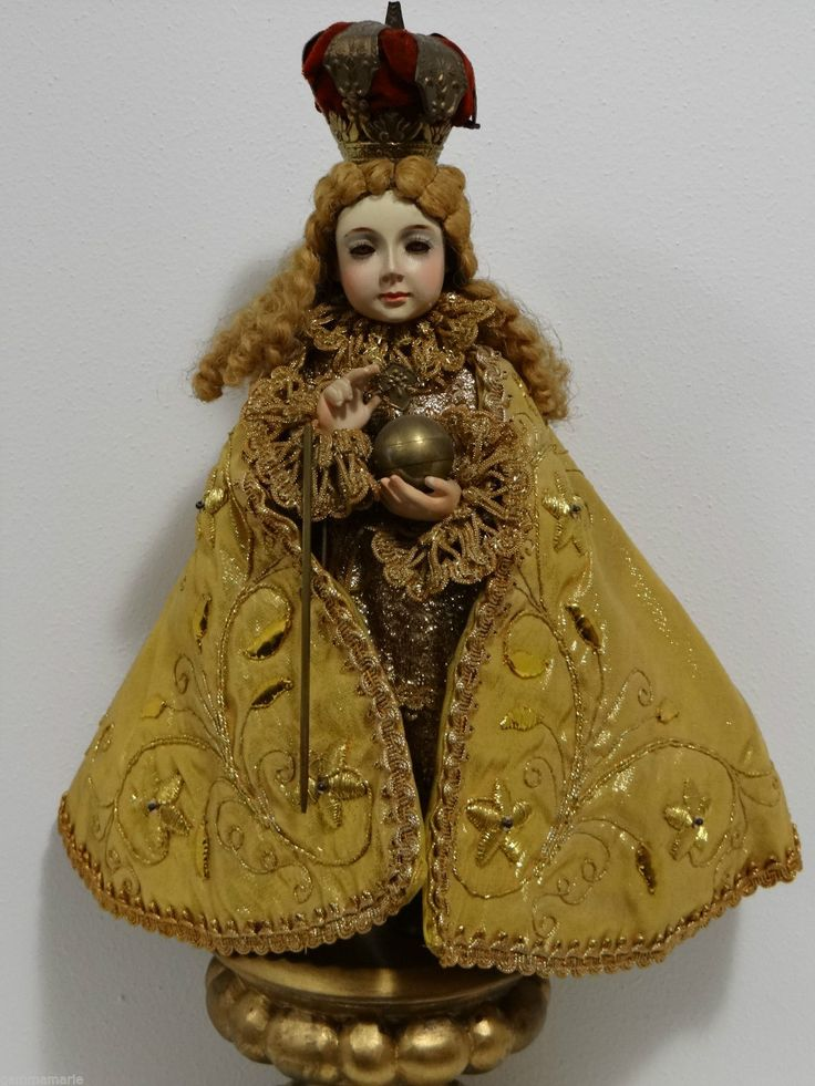 Rare Antique Spanish Colonial Religious Statue Of Infant