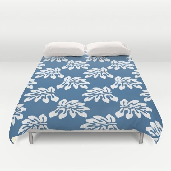 #New #Blue #White #Tropical #L Cover yourself in creativity with our ultra soft microfiber duvet covers. Hand sewn and meticulously crafted, these lightweight duvet covers vividly feature your favorite designs with a soft white reverse side. A durable and hidden zipper offers simple assembly for easy care - machine washable with cold water on gentle cycle with mild detergent. Available for King, Queen and Full duvets - duvet insert not included. *Queen duvet works for Twin XL…