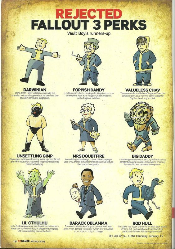 Fallout 3 Anime Characters : Best ideas about fallout perks on pinterest