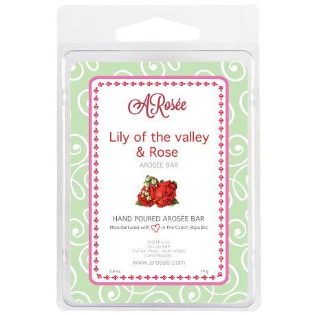 Sojový vonný voskdoaromalampy s vůní konvalinky a růže. Scented soy wax ARosée Bar. Home decor. Domácí dekorace.