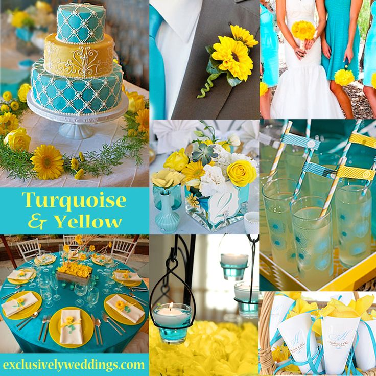 Turquoise And Red Wedding Ideas: Yellow Wedding Color – Combination Options