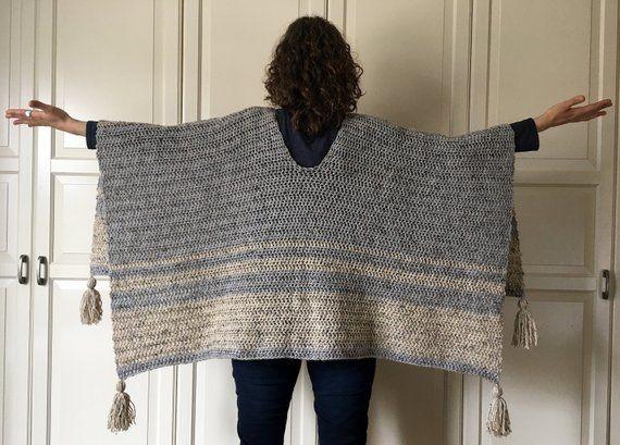 Crochet Poncho Pattern EASY, Crochet Ruana Pattern, Blanket