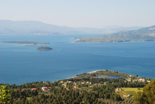 Kamena Vourla, Greece. Site with little islands in Kamena Vourla, Greece.