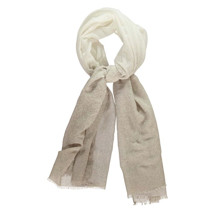 Deze allround sjaal mag deze zomer niet in je kast ontbreken: hij heeft grijze stippels die uitlopen naar de zijkanten en is versierd met kleine franjes. Perfect om bij alle stijlen te combineren.