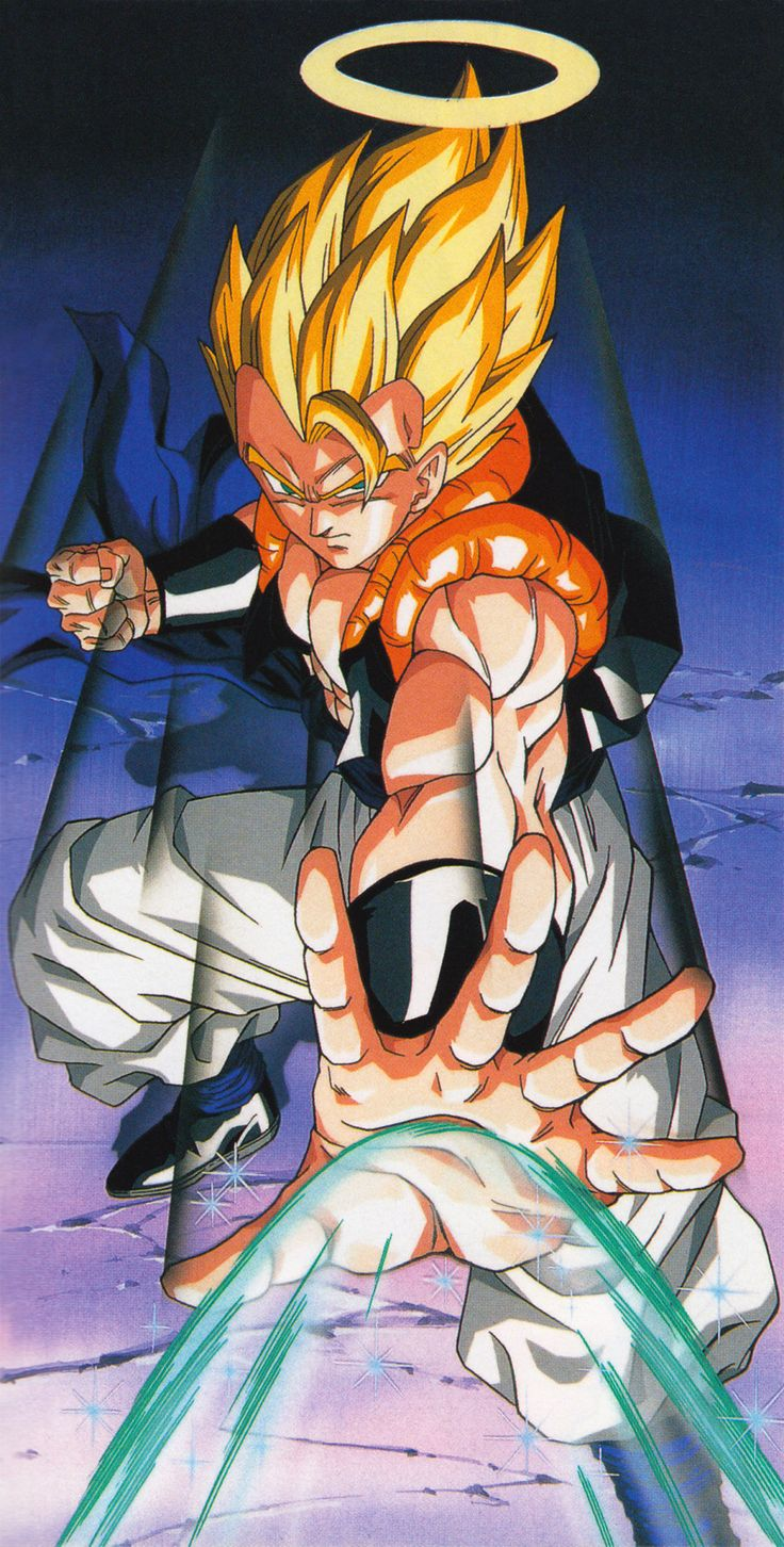 artbookisland:Gogeta. Scan from Daizenshuu TV Animation Part 3.Click picture for HD scan. Higher resolution version of this image.