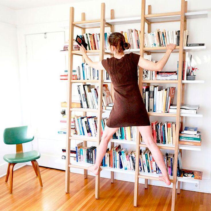 Книжный стеллаж с лестницей