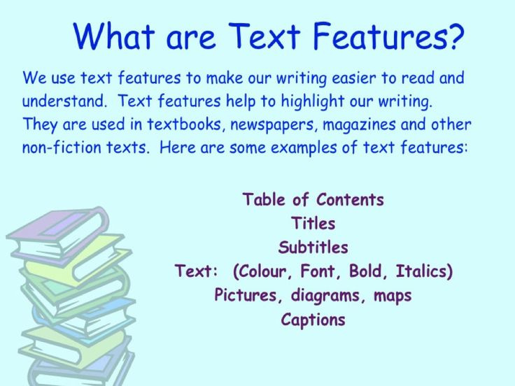 What are Text Features?