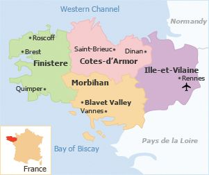 map of brittany france - Google Search