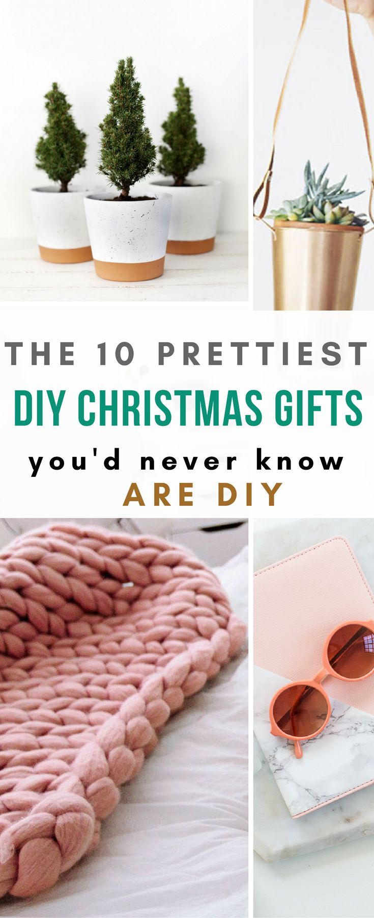 These DIY Christmas gifts are so pretty, you'd never ever guess they were hand made. Someone please make one of these for me! #diychristmas #diychristmasgift