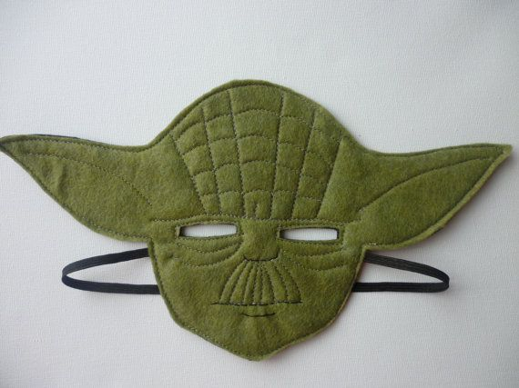 STAR WARS felt Yoda mask for dressing by MummyHughesy on Etsy, £7.00