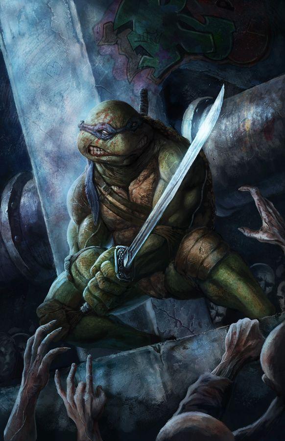 TMNT vs Zombies: Leonardo: Ninjas Turtles, Concept Art, Teenage Mutant Ninjas, Tmnt, Comic Books, Zombies Art, Comic Art, Blake Henriksen, Leonardo