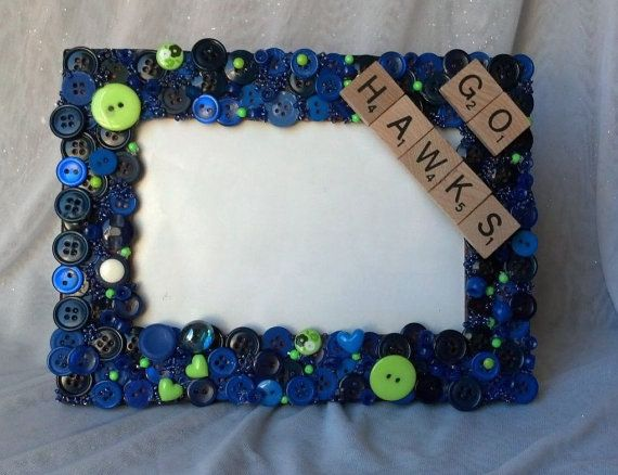 Seattle Seahawks Picture Frame Go Hawks by LivinTheGoodLife1