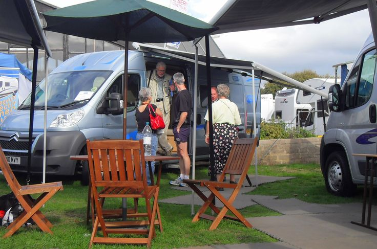 Shepton Mallet Motorhome Show, UK.  Travels featured in the Campervan Capers books/blog by Alannah Foley.