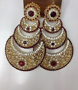 New Bollywood Indian costume jewellery fancy Bridal party wear earrings | eBay