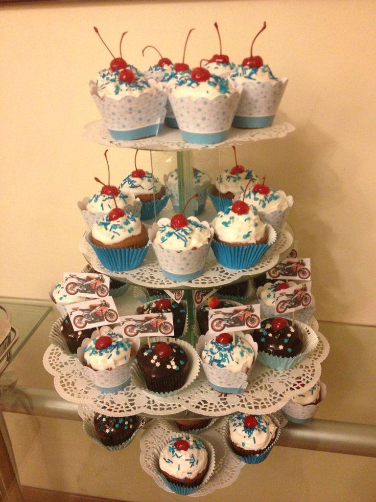 Cupcakes cumpleaños - Motos