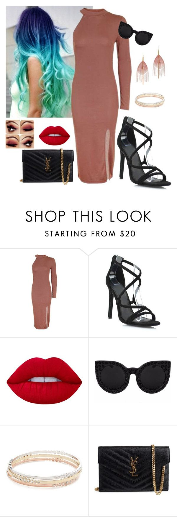 """Sem título #1129"" by anaritaferreira on Polyvore featuring moda, Topshop, Lime Crime, Kate Spade, Yves Saint Laurent e Serefina"