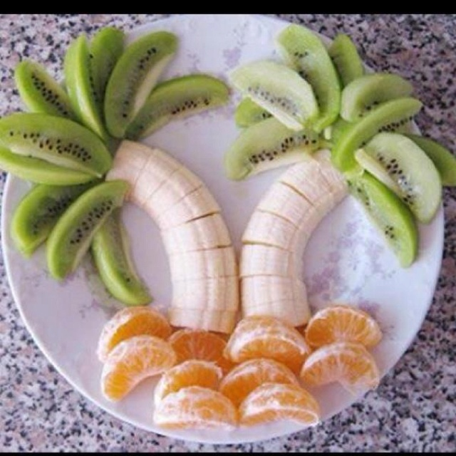 Cute summer food: Ideas, Recipe, Food, Palm Trees, Fruit Trees, Snacks, Kids, Fruit Trays, Fruit Palms Trees