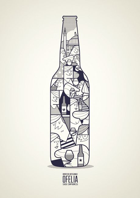 Birra Ofelia by Ale Giorgini, via Behance