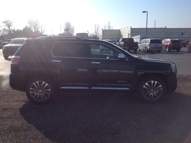 New 2017 GMC Terrain Denali SUV Elkhart    Top features include leather upholstery, a power liftgate, blind spot sensor, and power front seats. Under the hood you'll find a 6 cylinder engine with more than 300 horsepower, and all wheel drive keeps this model firmly attached to the road surface. Well tuned suspension and stability control deliver a spirited, yet composed, ride and drive.  See more at www.lochmandymotors.com