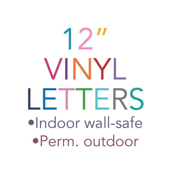 Quantity Discount Available Please Send A Message For A Custom Quote If Needing 3 Letters All Orders Include Set Wall Safe Vinyl Lettering Custom Quotes