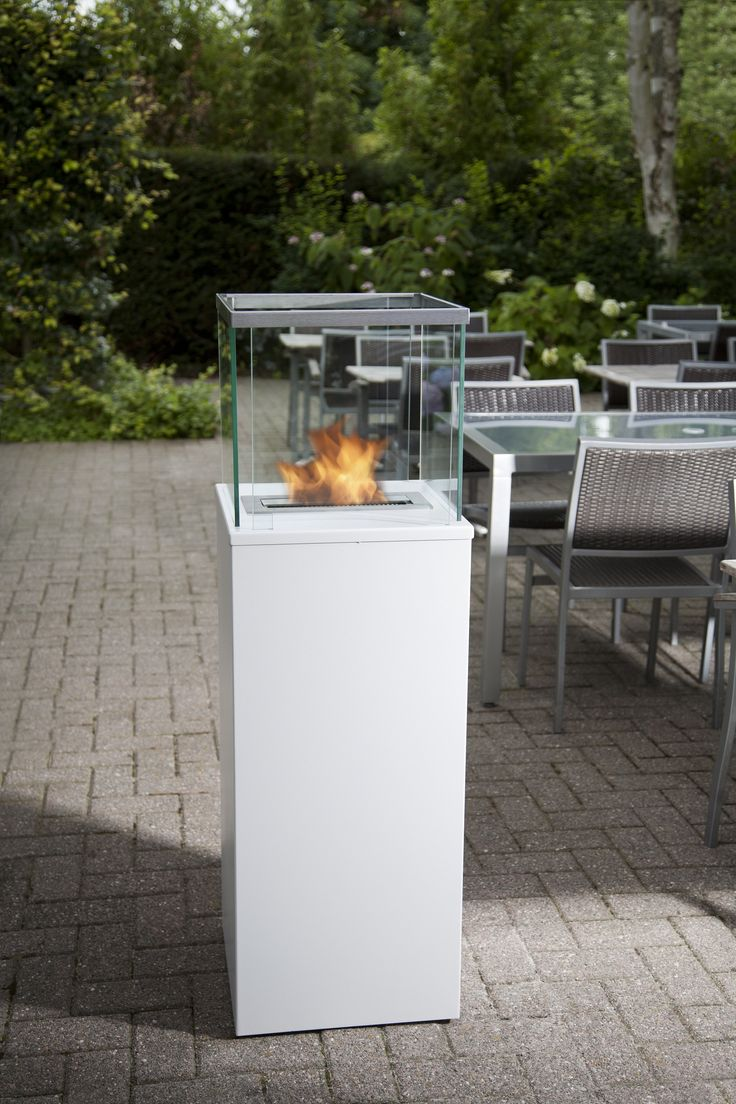 The Bio Blaze Column Is An Indoor And Outdoor Ethanol Fireplace It