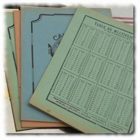 Cahiers d 39 colier avec les tables de multiplication sur la for Les table de multiplication