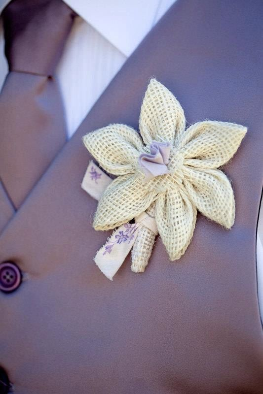 Burlap boutonniere rustic wedding prom boutonniere by darlyndax, $12.00