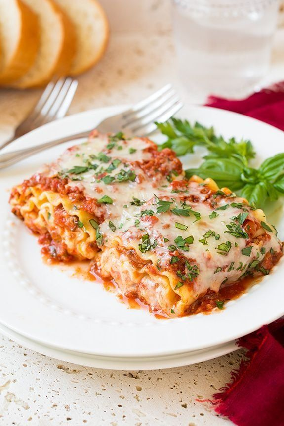 More fun to serve to a crowd than traditional lasagna, these lasagna roll-ups are a weeknight favorite.    ...