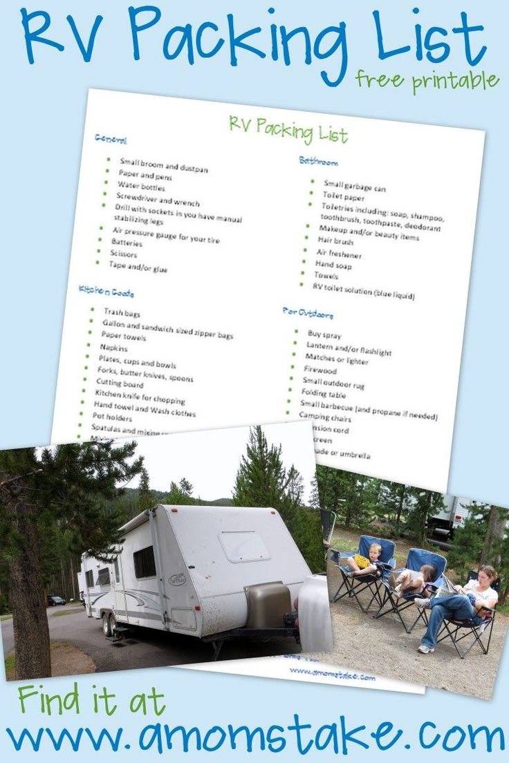 RV Roadtrip Checklist – What to Pack for Your RV Trip #Summer #Travel #RV #Roadtrip