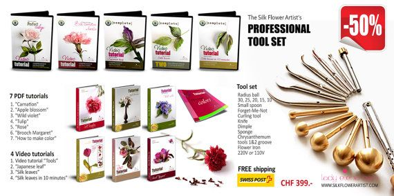 Professional Set  professional tools for by THESILKFLOWERARTIST