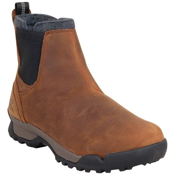 Sorel Men's Paxson Chukka Waterproof Boot (175 CAD) ❤ liked on Polyvore featuring men's fashion, men's shoes, men's boots, men's work boots, elk, mens black chukka boots, mens black work boots, sorel mens boots, mens black pull on work boots and mens slip on work boots