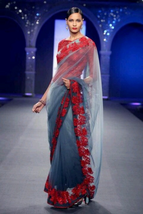A modern twist to the traditional Saree. Pint it if you like it :)