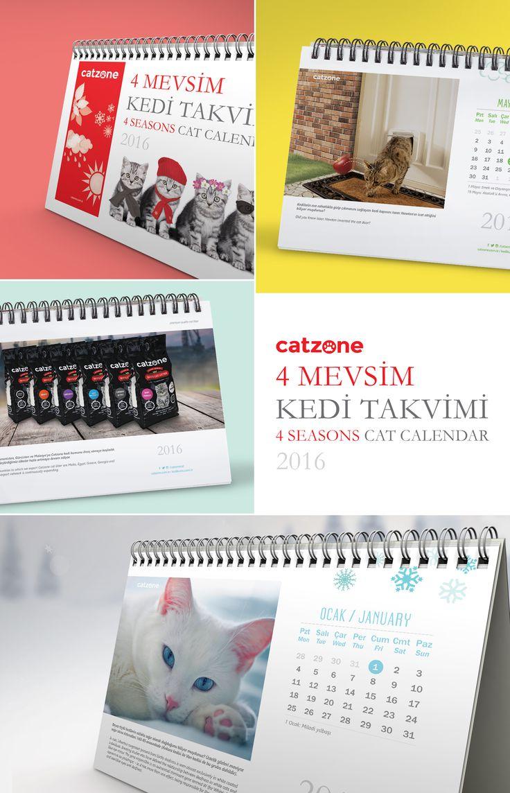 Catzone Kedi Kumları için hazırladığım masaüstü takvimi. Desk calendar for Catzone Cat Litters #creative #cat #calendar #desktop #newyear #graphic #design