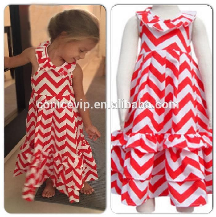 wholesale apparel ruffles maxi long dress new fashion kids dress of best price