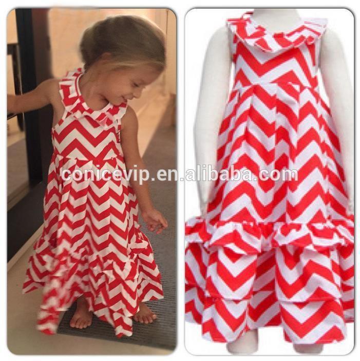 wholesale apparel ruffles maxi long dress new fashion kids dress of best price