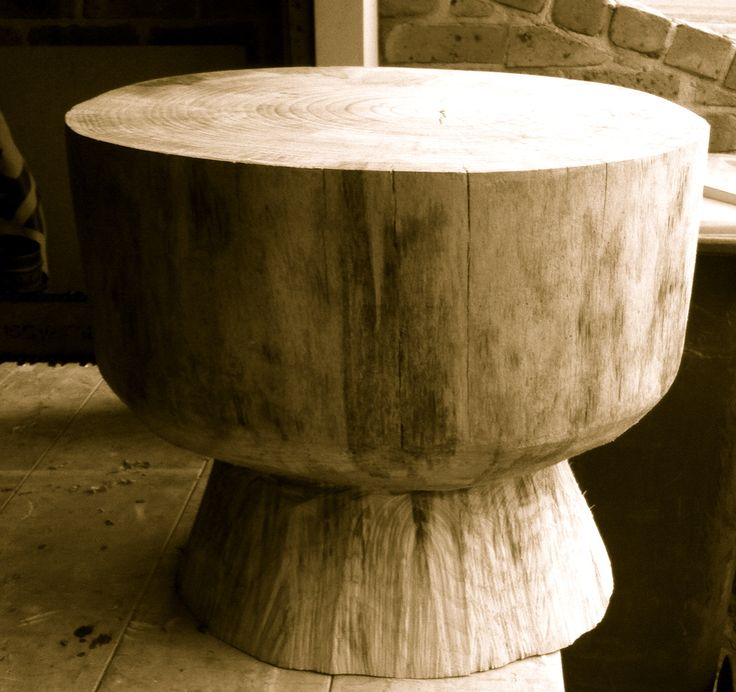 Table stump (pine) - by Timber and Chisel