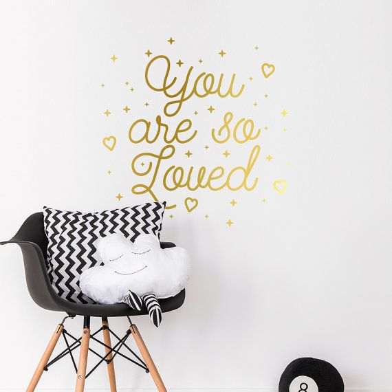 You are so loved is an inspirational quote wall sticker that will look great in…