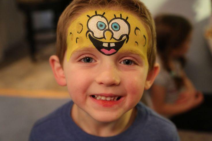 SpongeBob! #rifacepainting #facepaint