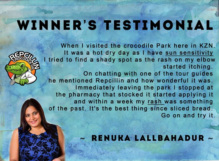 Renuka used Repcillin for her rashes she developed from sun sensitivity. She chose to cure her skin problem naturally using Repcillin skin care products www.repcillin.com