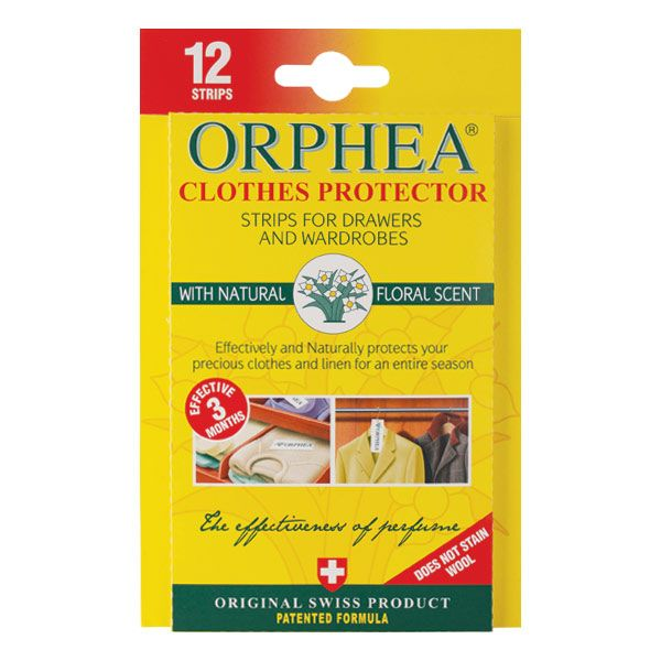 Orphea Clothes Protector strips are the modern, natural answer to the problem of protecting wool and precious garments. The original floral scent is loved and trusted around the world.