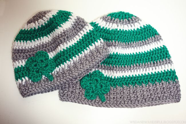 Wild  Wanderful: Luck of the Irish   Free Crochet Hat Pattern - St. Patrick's Day inspired cap
