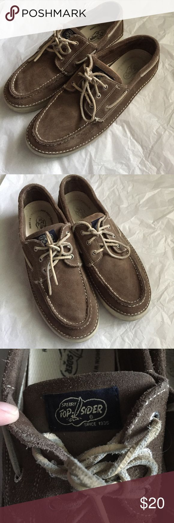 Men's Sperry's size 13! Mens suede brown leather Sperry Top-Sider! Mens size 13! Listing as used condition pricing reflects wear! comfortable sole! Sperry Top-Sider Shoes Boat Shoes