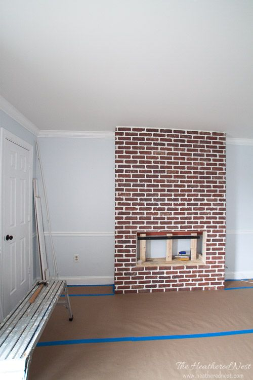 DIY german smear tutorial   brick mortar wash how to: THIS DOESN'T SOUND TOO HARD! Love the look for whitewash brick!! Lovely idea for a brick fireplace. from heatherednest.com