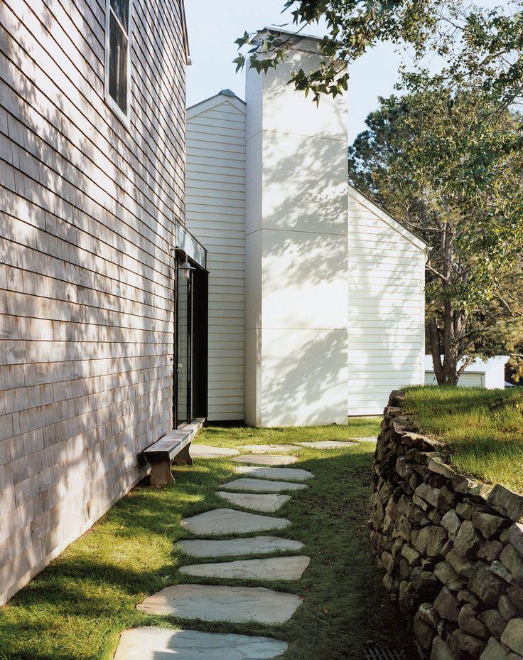 stone path in grass