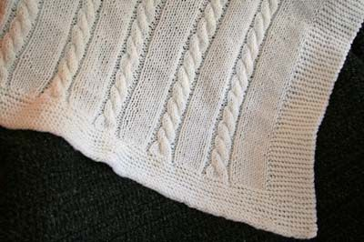 Charity cabled baby blanket pattern Knitting Pinterest