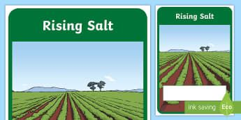 Rising Salt Year 6 Biological Sciences Editable Book Cover-Australia - Science, primary connections, biological, grade 6, year 6, science journal, cover page, front cover,