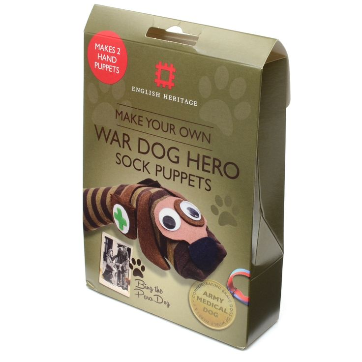 Make your very own War Dog Hero to commemorate the brave and heroic dogs that served in World War I and World War II. Dogs were used in both World Wars in a wide variety of roles. Their jobs included pulling machine guns and equipment for their fellow soldiers; carrying aid to the wounded and sniffing out enemy soldiers.