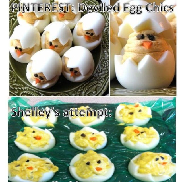 Nailed it.: Nails It Photo, Nailed It Photos, Chick Nails, Eggs Chick, Funny, Funnies, Deviled Eggs, Devil Eggs, Flats Chick